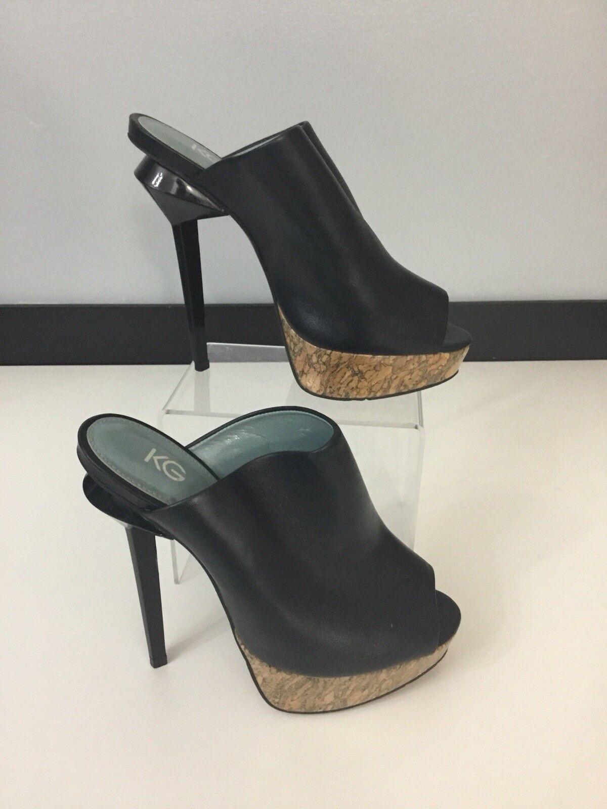 Kurt Geiger KG Womens,  shoes High Heels, Black Leather, Size Uk 4 Eu 37, In Vgc