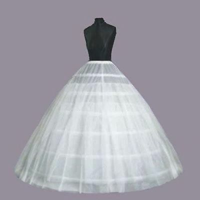 Petticoat Unterrock 6 Hoop Kleid Unterkleid Reifrock Ringe Brautkleid Krinoline