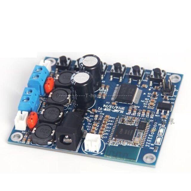Bluetooth 4.0 audio Receiver power digital HIFI amplifier Board TDA7492 25W+25W
