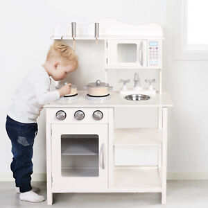 Image Is Loading Kids Wooden Play Kitchen Learning Cooking Role