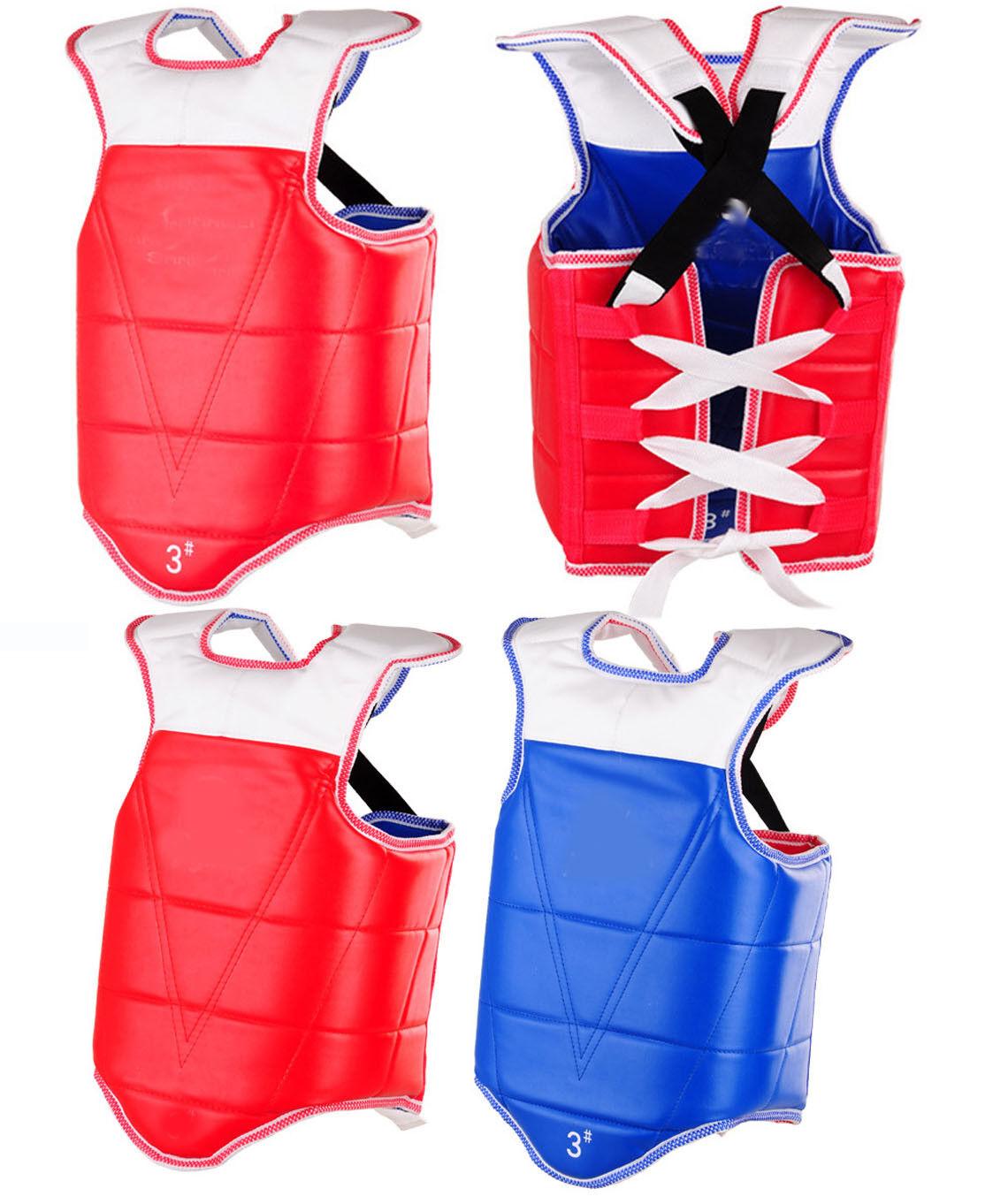 Adult kids sports  hogu Chest Predector Guard taekwondo TKD MMA Muay Thai Karate  limit buy