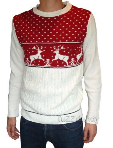 Mens /& Ladies novelty christmas xmas winter festive fairisle jumpers vtg retro