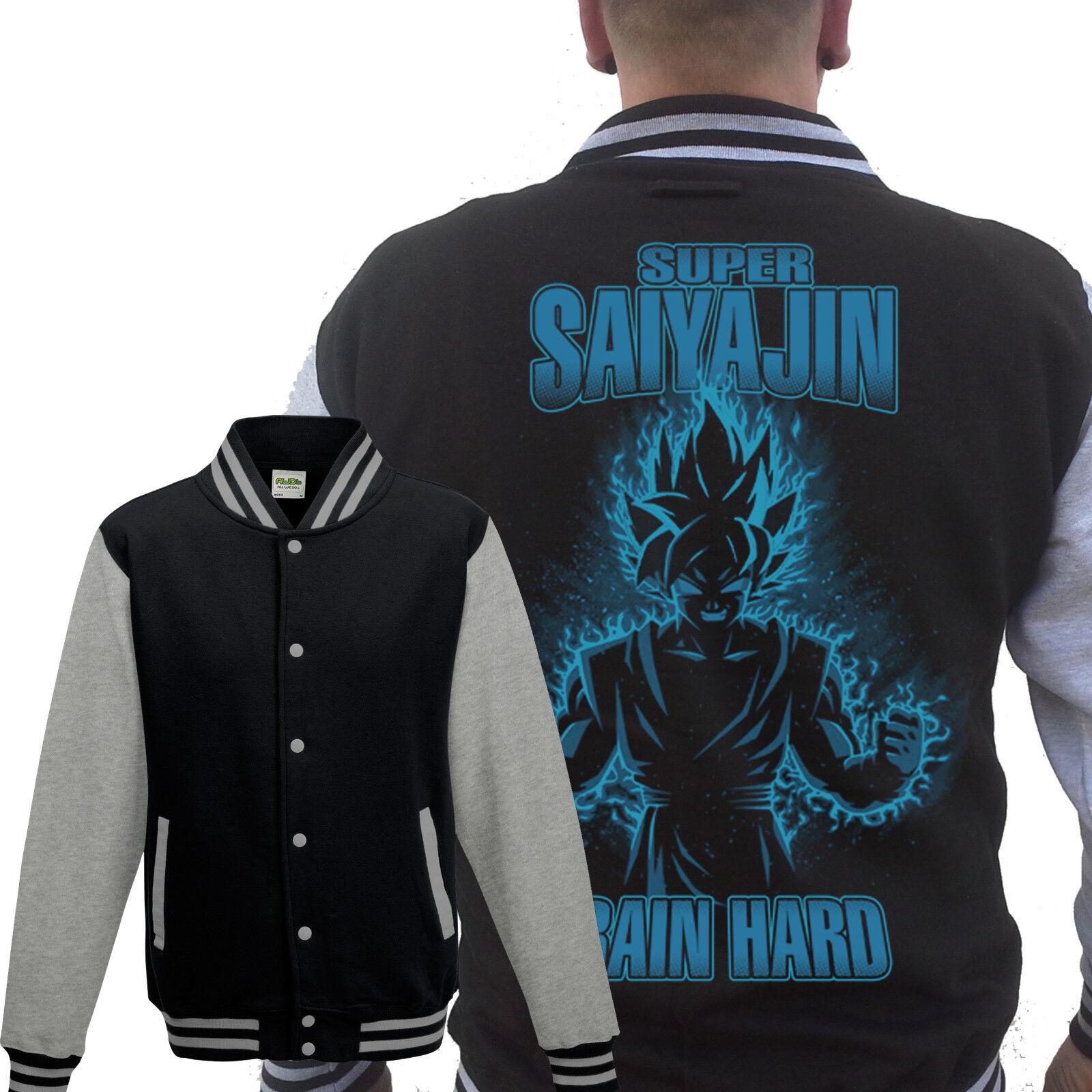 Super-Saiyajin GLOW College Grau Dragonball Z,Son Goku,Fun,Muten Roshi,Kult,TV