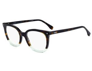 d11b49ed05f NEW Fendi FF0235 PHW19 51mm Havana Green Optical Eyeglasses Frames ...