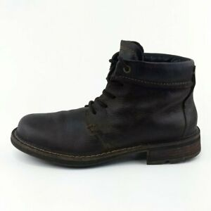 Ecco-Brown-Leather-Lace-Up-Ankle-Boots-EUR-42-Mens-Size-8-8-5