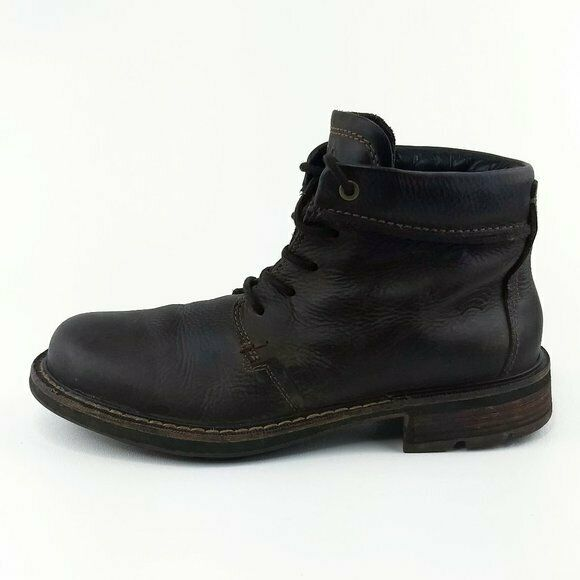Ecco Brown Leather Lace Up Ankle Boots EUR 42 Mens Size 8-8.5
