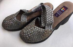 Zee Alexis Women/'s Stella Woven Slip On Shoe Black Metallic 40 US 9.5