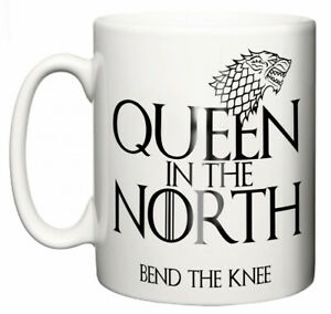 "GOT Sansa fan Mug ""Future Queen in the North, Bend the Knee"" Mum Gran Aunty Gift"