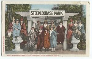 Postcard-Merry-Makers-Steeplechase-Funny-Place-Coney-Island-NY-1922