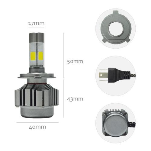 V8 H4 80W 6000K 12000LM Car LED Turbo Headlight Kit Driving Lamp Hi//Lo Beam Bulb