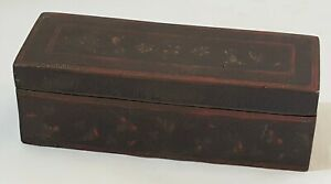 Brass-amp-enamel-vintage-Victorian-antique-rectangular-box