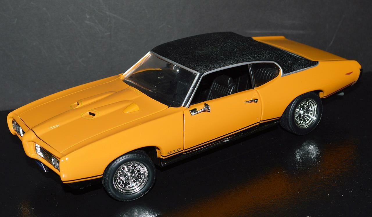 Ertl 1 18 Car 1969 Pontiac Gto Hardtop ss Orbit arancia, Top nero Raro