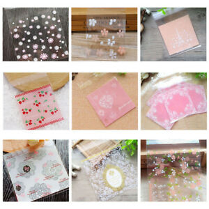 100pcs-Self-Adhesive-Bags-Seal-Plastic-Candy-Cookie-Birthday-Wedding-Gift-Pouch