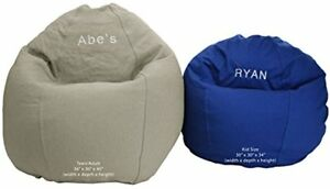 Image Is Loading Bean Bag Chair Size Beanbag Personalized Embroidered