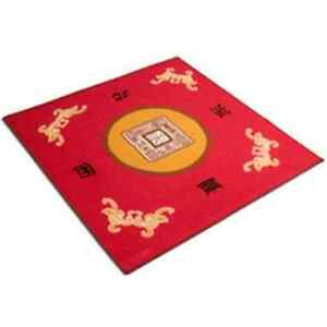 Mahjong Table Mat NEW *RED* MAH JONG TABLE COVER MAT - BUNCO - CARDS - CANASTA + Fabric ...