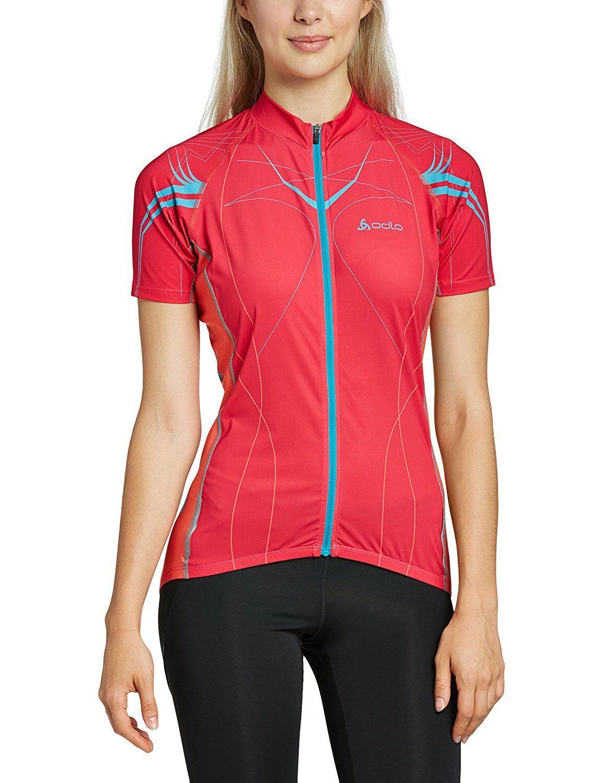 Odlo Damen Damen Damen Teamtrikot Radsport Stand-Up Collar Short Sleeve 1 2 Zip Tourmalet  | Discount  7639d0