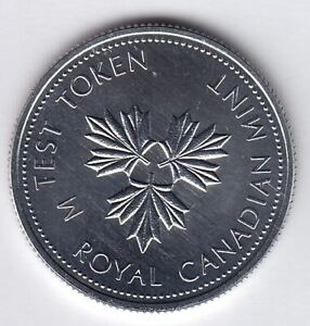 Canadian Test Token - Twenty Five Cents CH TT-25.13B, Round, three maple leaves