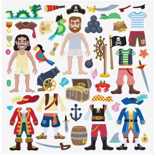 Melissa And Doug Pirate Puffy Reusable Sticker Play Set NEW Toys Arts Fun Kids