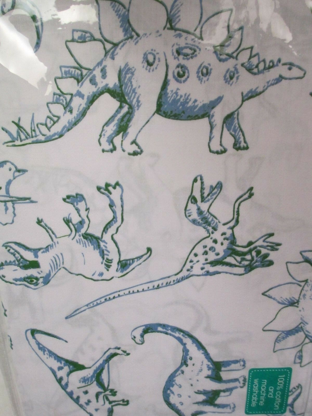 New Authentic Authentic Authentic Kids 100% Cotton Dinosaurs Weiß Blau Grün Sheet Set - Full 54251e