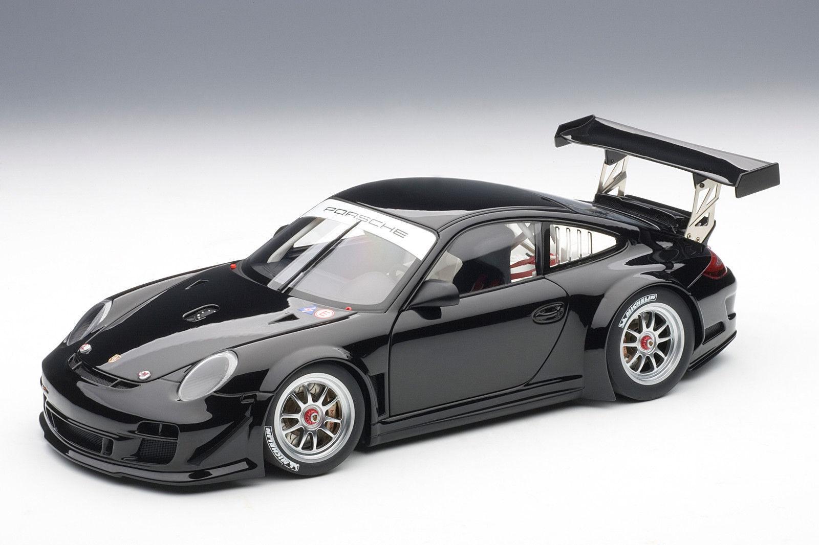 1/18 Autoart Porsche 911 (997) Gt3 R Cuerpo Liso Versión (Negro) 2018