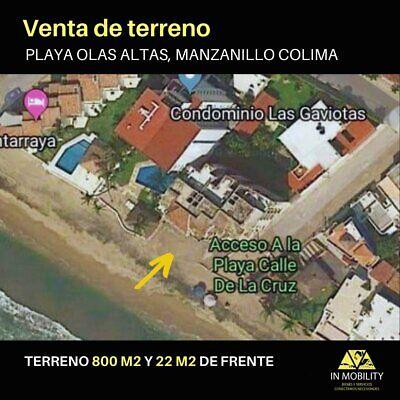 Terreno en venta Playa Olas Altas Manzanillo Colima