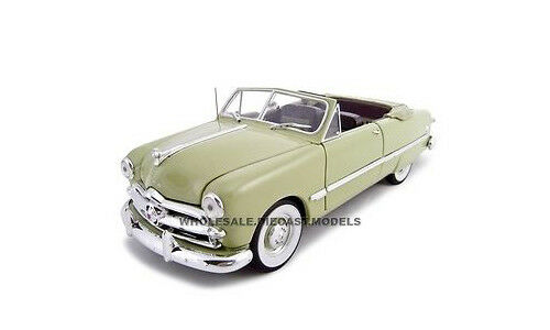1949 FORD CONgreenIBLE GREEN 1 24 DIECAST MODEL CAR BY UNIQUE REPLICAS 18581