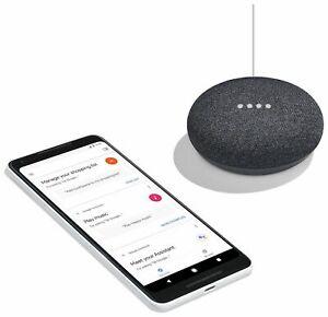 Google-Home-Mini-Altoparlante-Bluetooth-Wireless-con-Google-assistente-di-carbone-NUOVO