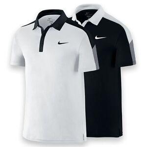 Image is loading Nike TEAM COURT Tennis Polo Shirt Men 039