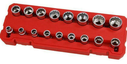 "17pc 1//2/"" Drive Socket Set 10.11.12.13.14.15.16.17.18.19.20.21.22.23.24.27 30mm"