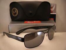Ray Ban RB 3522 006/82 Matte Black Metal Aviator Sunglasses Polarized 61mm