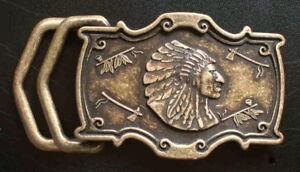 1a Western Gürtelschnalle Für 4cm GÜrtel Geronimo Neu Winnetou Indianer Metall # Wohltuend FüR Das Sperma