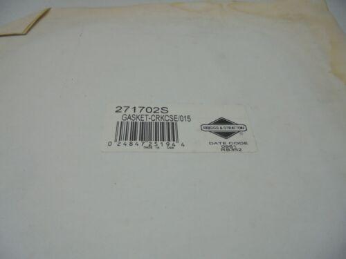 OEM Briggs /& Stratton Crankcase Gasket   Part # 271702S