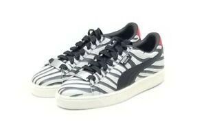 new product 95355 32e19 Details about PUMA X Paul Stanley KISS Suede Shoes Sneaker Black White  Stripe Zebra Size 8