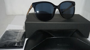 Christian-Dior-Sunglasses-Authentic-New-Black-Gold-Blue-2M2KU-55-18-145