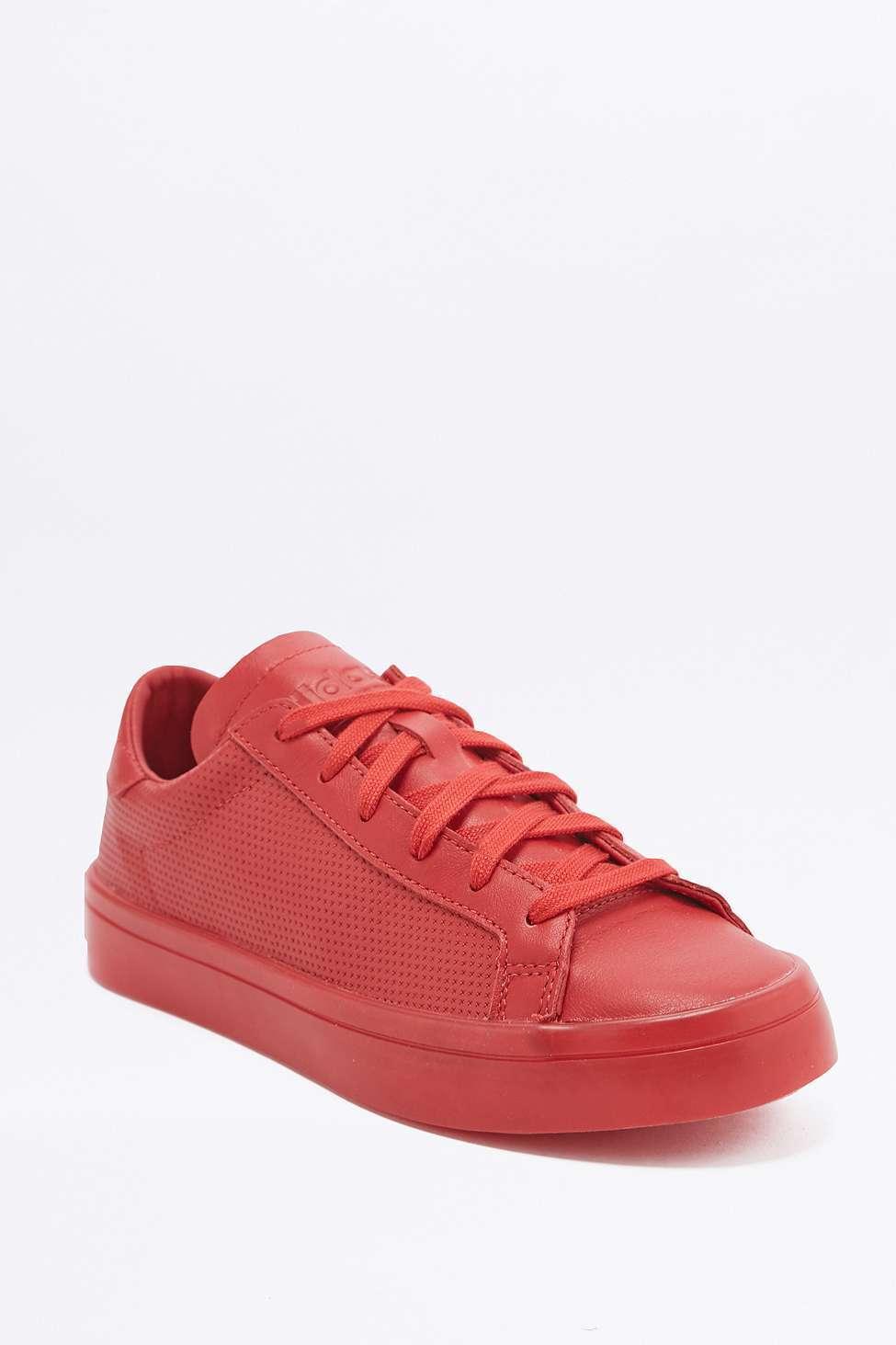 Adidas Originals CourtVantage Adicolor Trainers S80253 - Red - UK 4   New