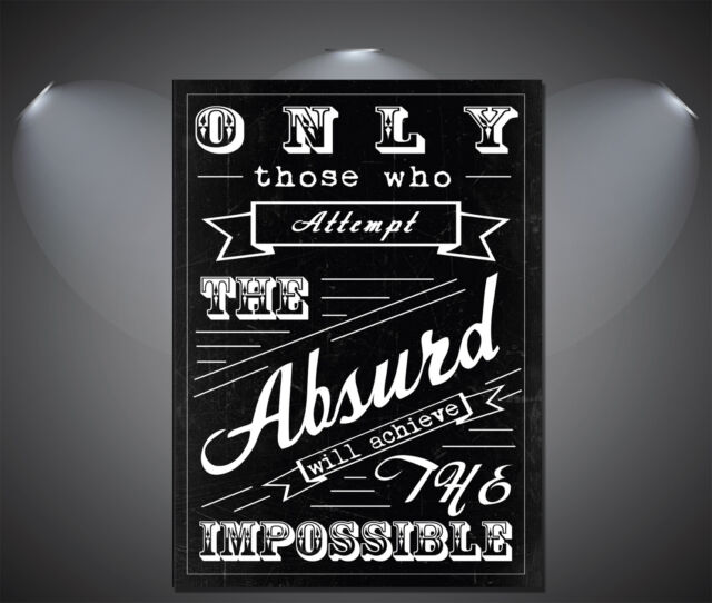 Quotes About Absurd Art Deco Large Poster - A0, A1, A2, A3, A4 Sizes