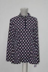 CHARTER-CLUB-Knit-Long-Sleeve-Iconic-Sliky-Top-Blue-XL