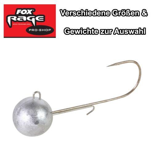 Fox Rage Jigköpfe Round Jigs Jighaken für Gummfische Gr 1 bis 6//0 zur Auswahl