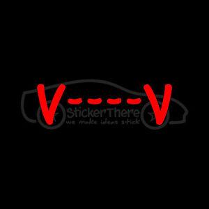 V-V-Sticker-Text-Vampire-Teeth-Vinyl-Decal-Fangs-Cute-Blood-Bat-Halloween-Hot