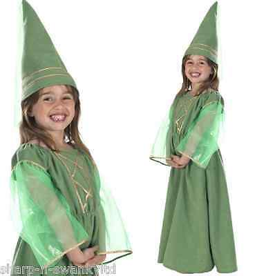 Childs Girls Maid Marion Robin Hood Medieval Princess Fancy Dress Costume Outfit