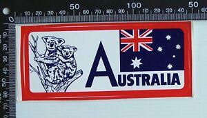 VINTAGE-AUSTRALIA-KOALA-SOUVENIR-ADVERTISING-PROMO-CAR-BUMPER-STICKER
