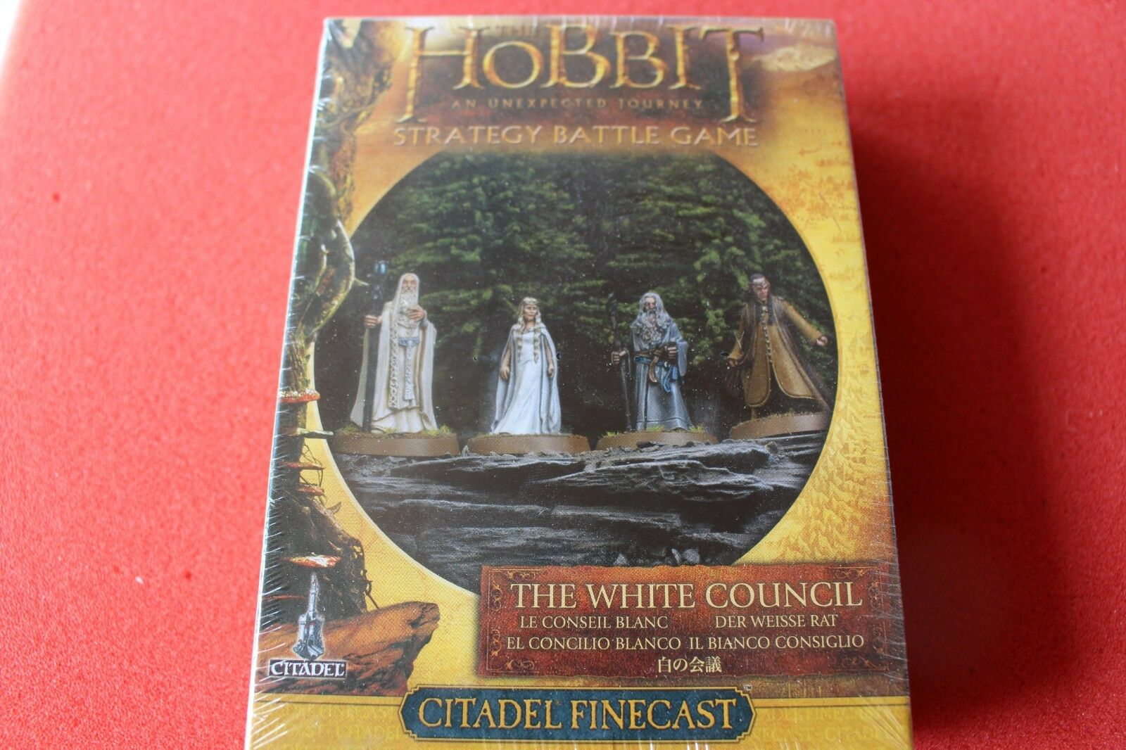Spel arbetarhop The vit Council The Hobbit Finecast BNIB New LoTR Lord of ringar