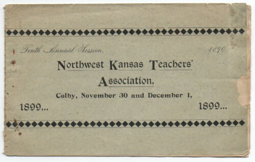 1899 Program from the 10th Annual Northwest Kansas chers Association
