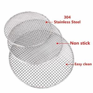 1pc-Round-Barbecue-BBQ-Net-Grill-Meshes-Racks-Grid-Grate-Outdoor-Stainless-Steel