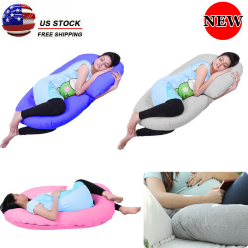 3 Colors Pregnancy Pillow Maternity Belly Contoured Body C Shape Comfort Full US