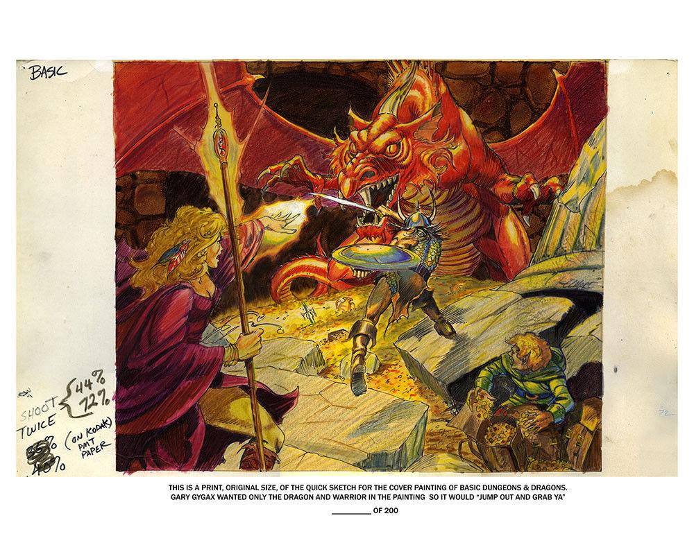 Basic D&D Ancient rosso Variant Litografia Autografata   acquistare ora