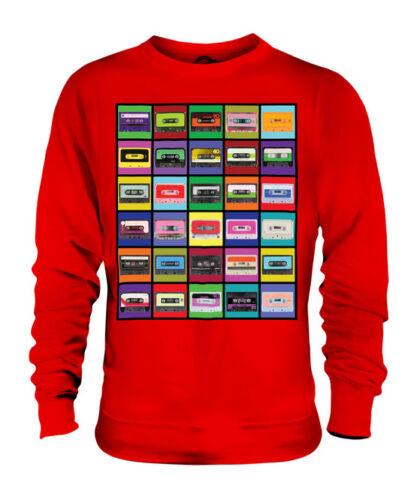 Pop Art cassettes Unisexe Fashion Imprimé Pull Vintage Music 70 s 80 s 90 s