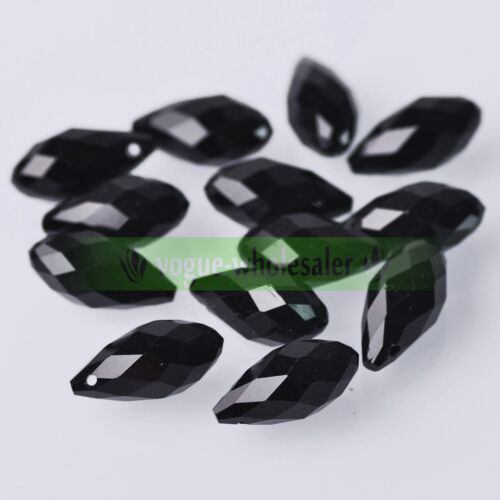 10//30pcs 20x10mm Faceted Teardrop glass crystal Loose Spacer Beads Jewelry À faire soi-même