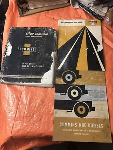 CUMMINS DIESEL ENGINE MANUAL BOOK H NH NHE SHOP BROCHURE 59