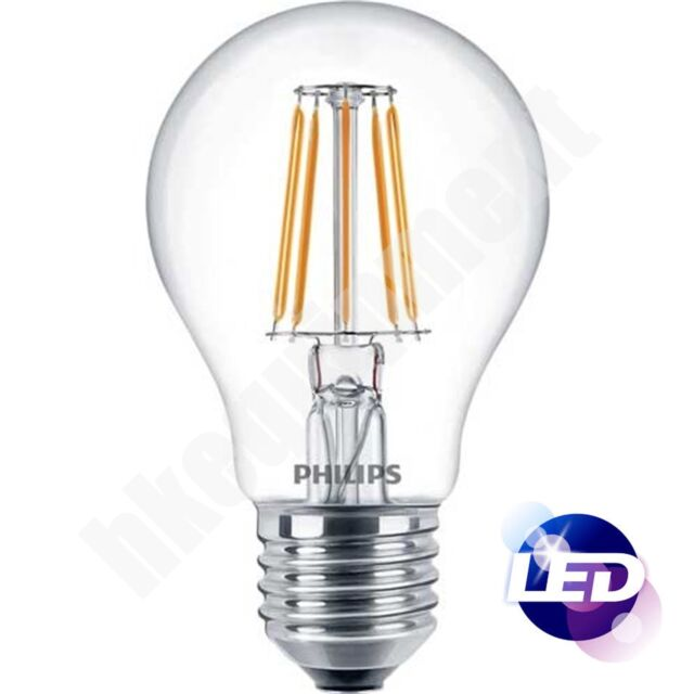Philips LED Classic Dimmable Filament Warm White Light Bulb E27 5.5 W